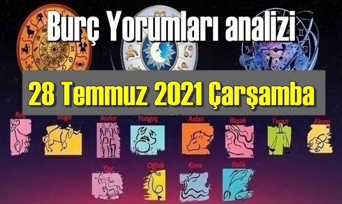 28 Temmuz 2021 Çarşamba/ Günlük Burç Yorumları analizi