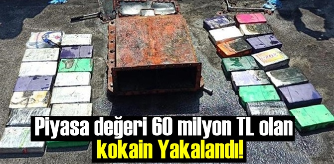 Piyasa değeri 60 milyon TL olan 30 kilo kokain