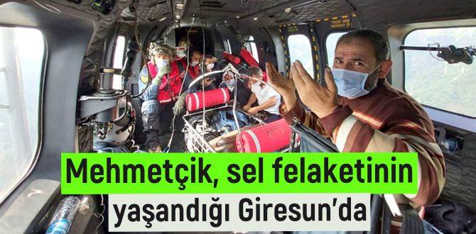 Mehmetçik, sel felaketinin yaşandığı Giresun'da