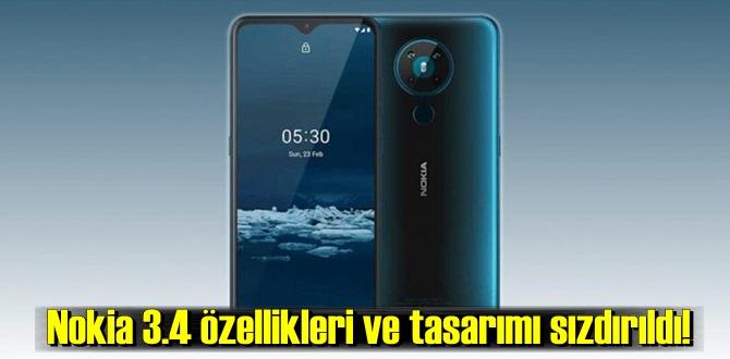 Nokia 3.4 özellikleri ve tasarımı ortaya çıktı
