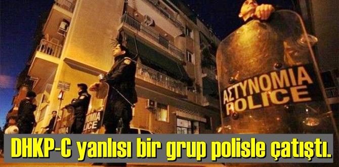 DHKP-C yanlısı sloganlar atan eylemciler