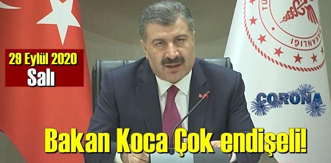 29 Eylül 2020 Salı/ Türkiye Koronavirüs veri tablosu