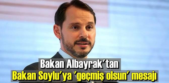 Bakan Albayrak, Bakan Soylu ve ailesine geçmiş olsun dileklerini iletti!