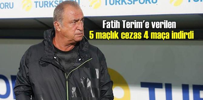 Flaş açıklama, Fatih Terim'in cezası 4 maça indirildi!