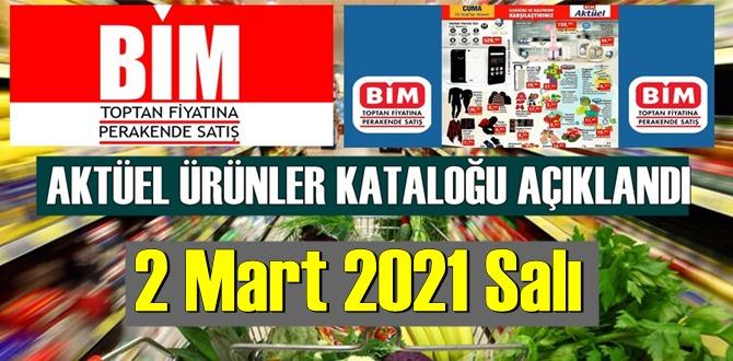 2 Mart 2021 Salı BİM aktüel ürünler kataloğu açıklandı