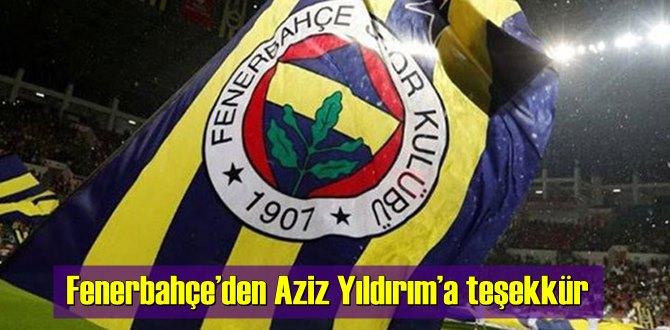 Fenerbahçe: Kulübümüze desteğini dile getiren Aziz Başkan'a teşekkür ederiz!