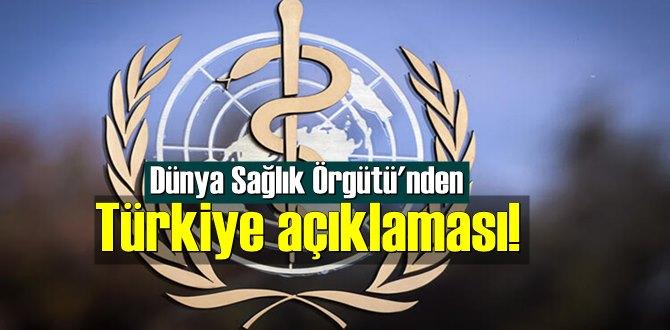 Dünya Sağlık Örgütü Başkanı Ghebreyesus'tan olumlu Türkiye yorumu!