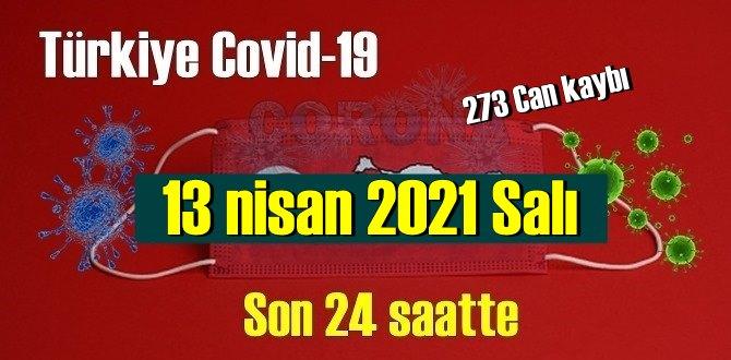 13 nisan 2021 Salı virüs verileri yayınlandı, tablo Ciddi 273 Can kaybı yaşandı!