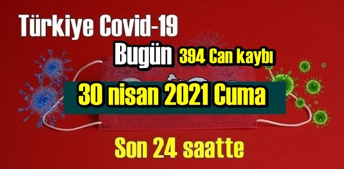 30 nisan 2021 Cuma virüs verileri yayınlandı, tablo Ciddi 394 Can kaybı yaşandı!