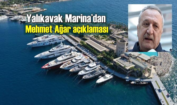 Yalıkavak Marina, eski İçişleri Bakanı Mehmet Ağar'ın görevinden ayrıldığını duyurdu.