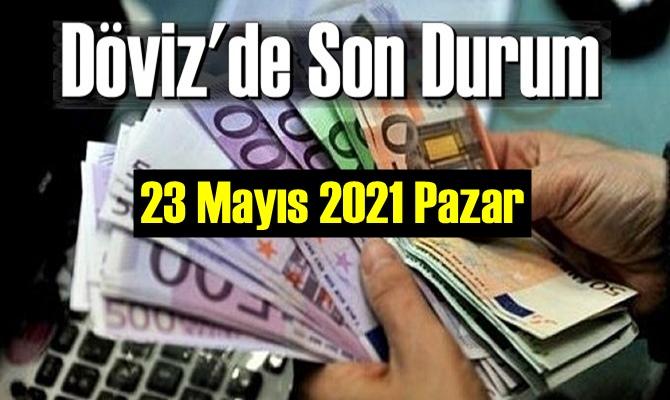 23 Mayıs 2021 Pazar Ekonomi'de Döviz piyasası