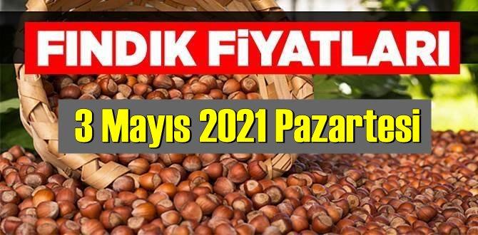 3 Mayıs 2021 Pazartesi Türkiye günlük Fındık fiyatları