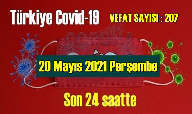 20 Mayıs 2021 Perşembe Covid verileri yayınlandı