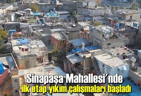 Sinapaşa Mahallesi'nde ilk etap yıkım çalışmaları başladı