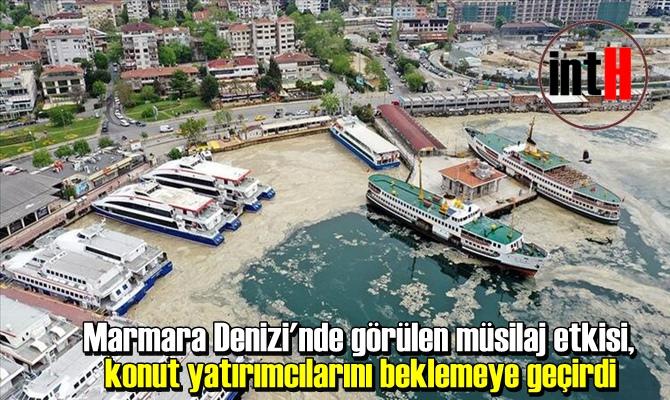 Marmara Denizi'nde görülen müsilaj etkisi, konut yatırımcılarını beklemeye geçirdi.